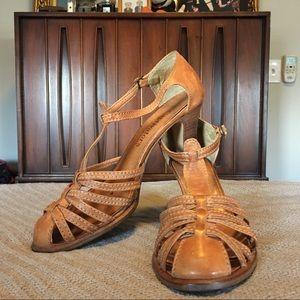 Leather Sandal Heels Vintage Captivators
